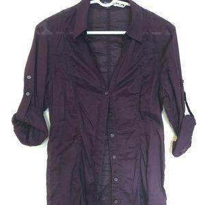 Express Purple Button Down Shirt